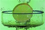 Margarita Glass And Lemon Splash