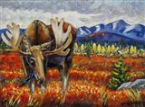 Moose In The Autumn Tundra