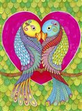 Lovebirds in Colour