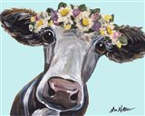 Cow Cora Flower Crown Blue