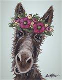 Donkey Rufus 1 Pink Flowers