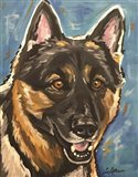 German Shepherd Expressive Blue 1