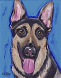 German Shepherd Expressive Blue 2