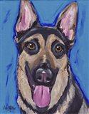 German Shepherd Expressive Blue 2