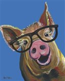 Pig Wilbur Glasses Blue