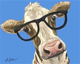 Cow Glasses Blue