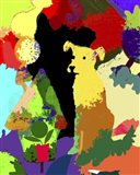 Dog With Abstract Background