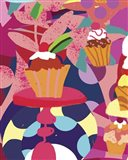 Cupcakes With Abstract Background