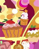 Desserts With Abstract Background