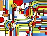 Pop Art Stripes Curve