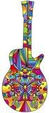 Pop Art Guitar Butterfly