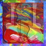 Pop Art Guitar Swirls