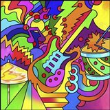 Pop Art Guitar Drum