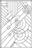Pop Art Deco Panel 1 Lineart
