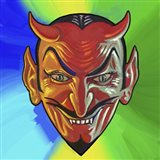 Pop Art Devil Face
