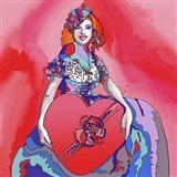 Pop Art Heart Valentine Lady