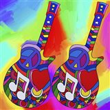 Guitars Peace Love Music