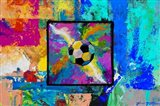 Window into the Soccer Universe - Pink and Cyan Football
