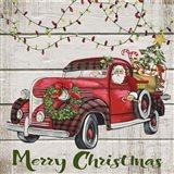 Vintage Christmas Truck-D