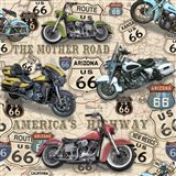 Vintage Motorcycles on Route 66-A