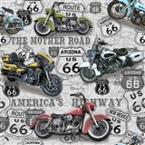 Vintage Motorcycles on Route 66-C