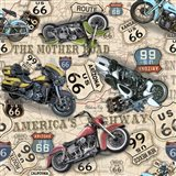 Vintage Motorcycles on Route 66-X