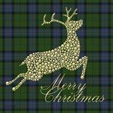 Merry Christmas Plaid - Gold Deer