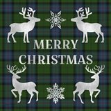 Merry Christmas Plaid - Silver