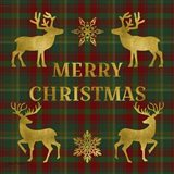 Merry Christmas Plaid - Gold, Red & Green