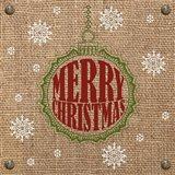 Christmas on Burlap - Merry Christmas 1