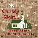 Christmas on Burlap - Oh Holy Night