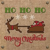 Christmas on Burlap - Ho Ho Ho