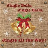 Christmas on Burlap - Jingle Bells