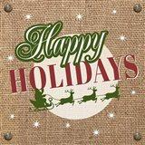 Christmas on Burlap - Happy Holidays
