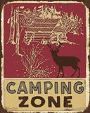 Lodge Sign - Camping Zone