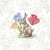 Bunnies In The Tulips-C