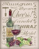 Cheers Wine Art - White