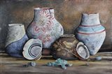 Clay Pottery Still Life-C