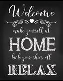 Welcome Home - Black