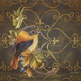 Glorious Bird On Damask I