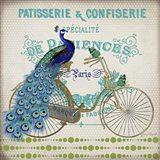 Peacock On Bicylce - E