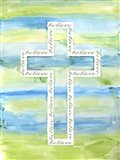 Watercolor Cross - A