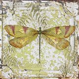 Dragonfly On Tin Tile