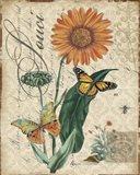 Botanical - Marigold Souci Damask