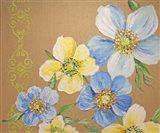Spring Florals On Burlap - A
