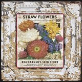 Tin Tile - Straw Flowers
