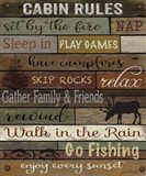 Cabin Rules On Wood