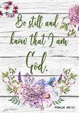 Garden Florals Bible Verse A