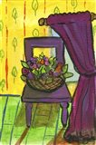 Purple Curtains and Chair