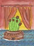 Pin Cushion Cactus in Bloom